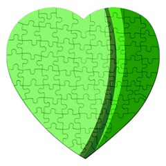Simple Green Jigsaw Puzzle (heart)