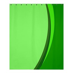 Simple Green Shower Curtain 60  X 72  (medium)  by AnjaniArt
