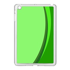 Simple Green Apple Ipad Mini Case (white) by AnjaniArt