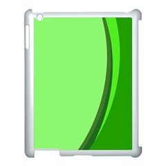 Simple Green Apple Ipad 3/4 Case (white)