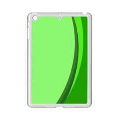 Simple Green Ipad Mini 2 Enamel Coated Cases by AnjaniArt