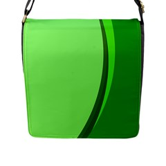 Simple Green Flap Messenger Bag (l)  by AnjaniArt