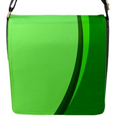 Simple Green Flap Messenger Bag (s) by AnjaniArt