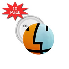 Two Fafe Orange Blue 1 75  Buttons (10 Pack)