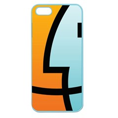 Two Fafe Orange Blue Apple Seamless Iphone 5 Case (color)