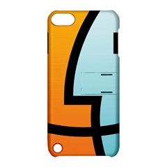 Two Fafe Orange Blue Apple Ipod Touch 5 Hardshell Case With Stand