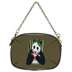 Simple Joker Panda Bears Chain Purses (two Sides)  by AnjaniArt