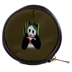 Simple Joker Panda Bears Mini Makeup Bags by AnjaniArt