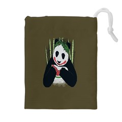 Simple Joker Panda Bears Drawstring Pouches (extra Large)