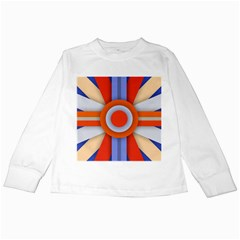 Round Color Copy Kids Long Sleeve T Shirts