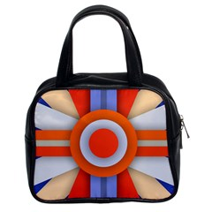 Round Color Copy Classic Handbags (2 Sides) by AnjaniArt