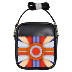 Round Color Copy Girls Sling Bags