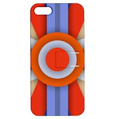Round Color Copy Apple Iphone 5 Hardshell Case With Stand by AnjaniArt