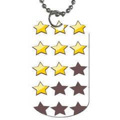 Star Rating Copy Dog Tag (two Sides) by AnjaniArt