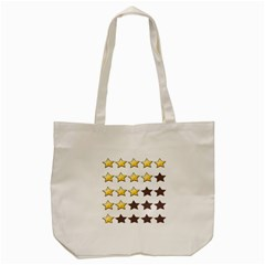 Star Rating Copy Tote Bag (cream) by AnjaniArt