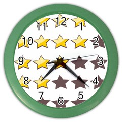 Star Rating Copy Color Wall Clocks by AnjaniArt