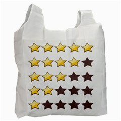Star Rating Copy Recycle Bag (two Side)  by AnjaniArt