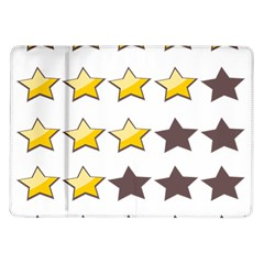 Star Rating Copy Samsung Galaxy Tab 10 1  P7500 Flip Case by AnjaniArt