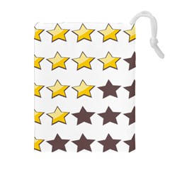Star Rating Copy Drawstring Pouches (extra Large) by AnjaniArt