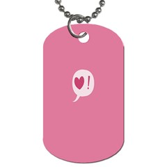 Valentines Pink Day Copy Dog Tag (one Side) by AnjaniArt