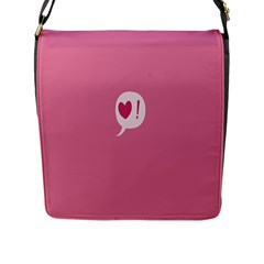 Valentines Pink Day Copy Flap Messenger Bag (l)  by AnjaniArt