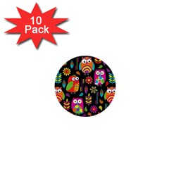 Ultra Soft Owl 1  Mini Buttons (10 Pack)  by AnjaniArt