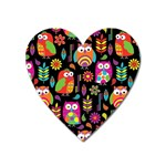 Ultra Soft Owl Heart Magnet Front