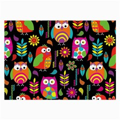 Ultra Soft Owl Large Glasses Cloth (2 Side) by AnjaniArt