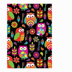 Ultra Soft Owl Small Garden Flag (two Sides) by AnjaniArt