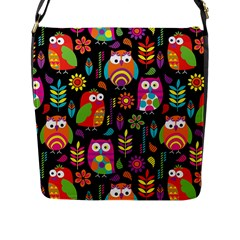 Ultra Soft Owl Flap Messenger Bag (l)