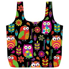 Ultra Soft Owl Full Print Recycle Bags (l)  by AnjaniArt