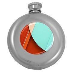 Thumb Lollipop Wallpaper Round Hip Flask (5 Oz)