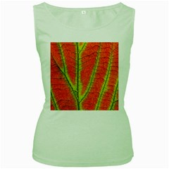 Unique Leaf Women s Green Tank Top by AnjaniArt