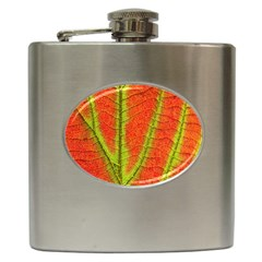 Unique Leaf Hip Flask (6 Oz) by AnjaniArt