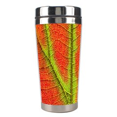 Unique Leaf Stainless Steel Travel Tumblers by AnjaniArt