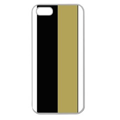 Black Brown Gold White Stripes Elegant Festive Stripe Pattern Apple Seamless Iphone 5 Case (clear) by yoursparklingshop