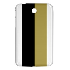 Black Brown Gold White Stripes Elegant Festive Stripe Pattern Samsung Galaxy Tab 3 (7 ) P3200 Hardshell Case  by yoursparklingshop