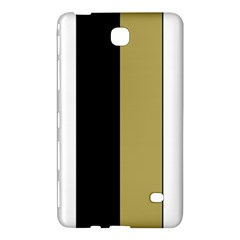 Black Brown Gold White Stripes Elegant Festive Stripe Pattern Samsung Galaxy Tab 4 (7 ) Hardshell Case  by yoursparklingshop