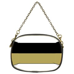 Black Brown Gold White Horizontal Stripes Elegant 8000 Sv Festive Stripe Chain Purses (two Sides)