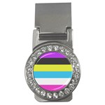 Bigender Flag Money Clips (CZ)  Front