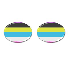 Bigender Flag Cufflinks (oval)