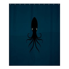 Black Octopus Shower Curtain 60  X 72  (medium)  by AnjaniArt