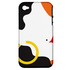 Woman s Face Apple Iphone 4/4s Hardshell Case (pc+silicone)
