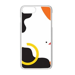 Woman s Face Apple Iphone 7 Plus White Seamless Case