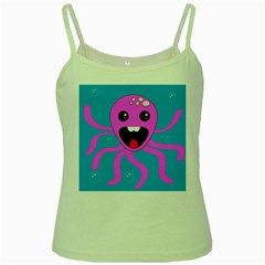 Bubble Octopus Green Spaghetti Tank by AnjaniArt