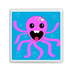 Bubble Octopus Memory Card Reader (square)  by AnjaniArt
