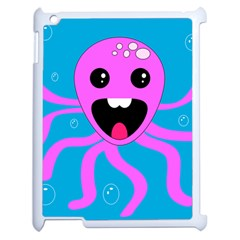 Bubble Octopus Apple Ipad 2 Case (white) by AnjaniArt