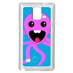 Bubble Octopus Samsung Galaxy Note 4 Case (white) by AnjaniArt
