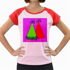Birthday Hat Party Women s Cap Sleeve T Shirt
