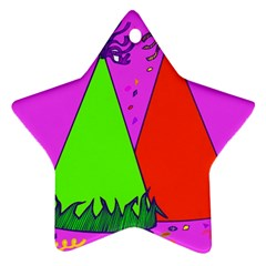Birthday Hat Party Star Ornament (two Sides)  by AnjaniArt